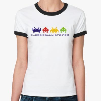 Женская футболка Ringer-T Space Invaders
