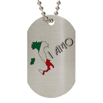 Жетон dog-tag Я люблю тебя по-итальянски