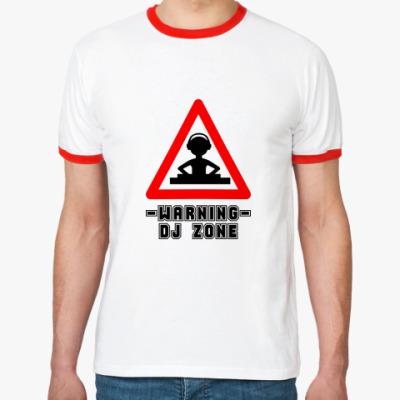 Футболка Ringer-T DJ ZONE