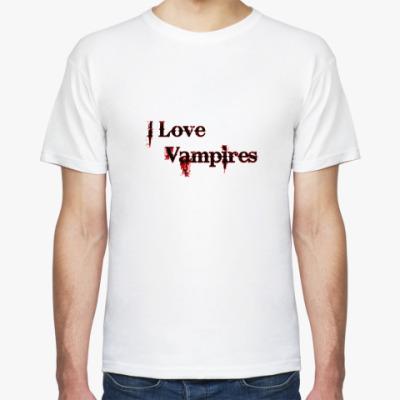 Футболка I love vampires