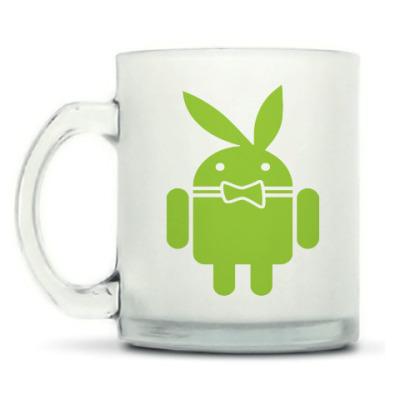 Кружка матовая Андроид плейбой