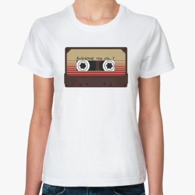 Классическая футболка Кассета - стражи галактики