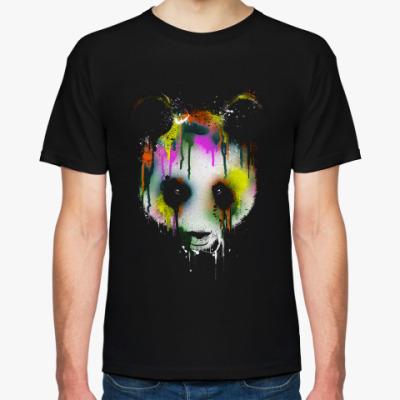Футболка Панда в краске