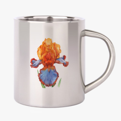 Цветок гиацинт-ирис акварель