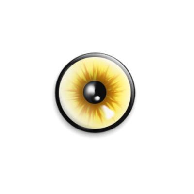 Значок 25мм  Желтый Глаз