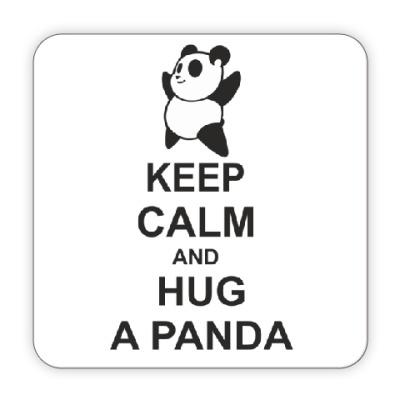Костер (подставка под кружку) Hug a panda