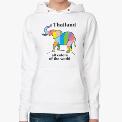 Женская толстовка худи Пусть Таиланд всегда будет с вами!