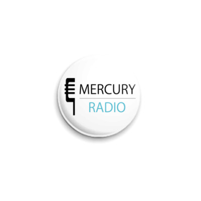 Значок 25мм  Mercury Radio