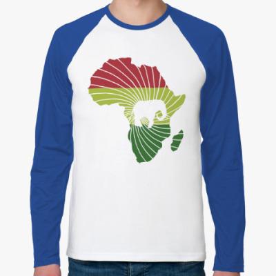 Футболка реглан с длинным рукавом Африканский слон