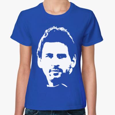 Женская футболка Messi face