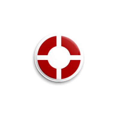 Значок 25мм  TF2, красно-белый