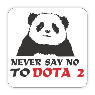 Костер (подставка под кружку) Never say no to dota