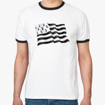 Футболка Ringer-T Бретонский флаг