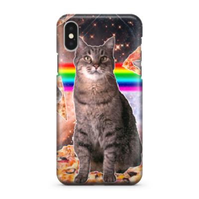 Чехол для iPhone X Космический кот