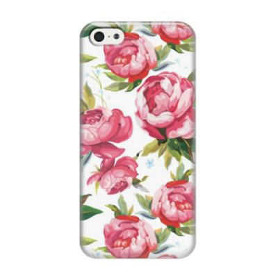 Чехол для iPhone 5/5s 'Пионы'