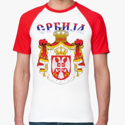 Футболка реглан Большой герб Сербии