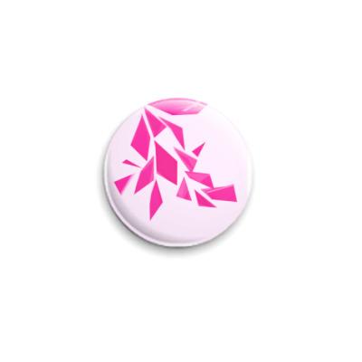 """Значок 25мм  25 мм """" розовые"""""""