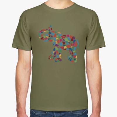 Футболка Слон - мозаика