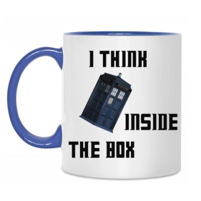 Кружка I think inside the box