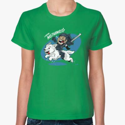 Женская футболка Джон Сноу - Я ничего не знаю!