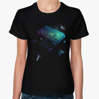 Женская футболка Космические Строители