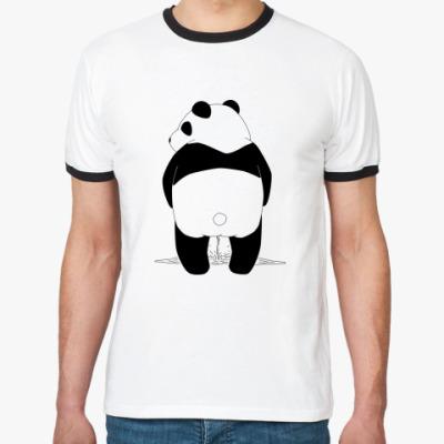 Футболка Ringer-T Писающая панда