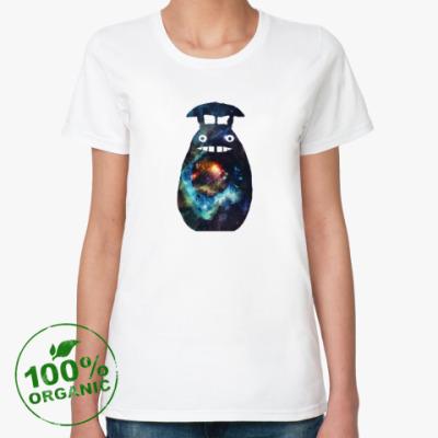 Женская футболка из органик-хлопка Космический тоторо