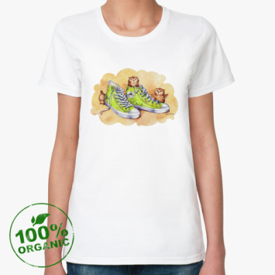Женская футболка из органик-хлопка КросСовки