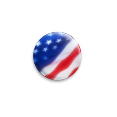 Значок 25мм USA Flag