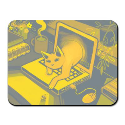 Коврик для мыши Компьютерный кото-вирус