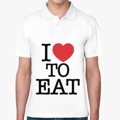Рубашка поло я Люблю есть