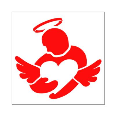 Наклейка (стикер) Сердце в руках