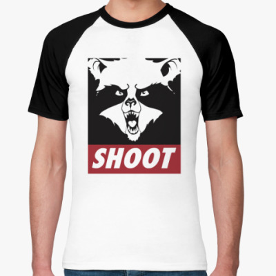 Футболка реглан Raccoon Shoot