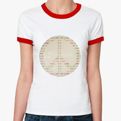 Женская футболка Ringer-T  МИР