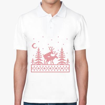 Рубашка поло Олени в лесу