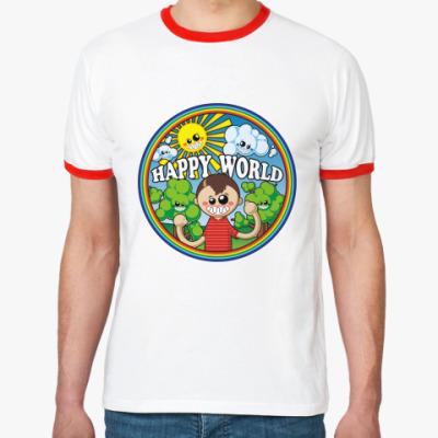 Футболка Ringer-T Happy World