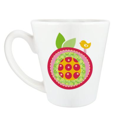 Чашка Латте Веселое яблочко