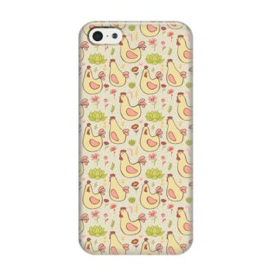 Чехол для iPhone 5/5s Петушки