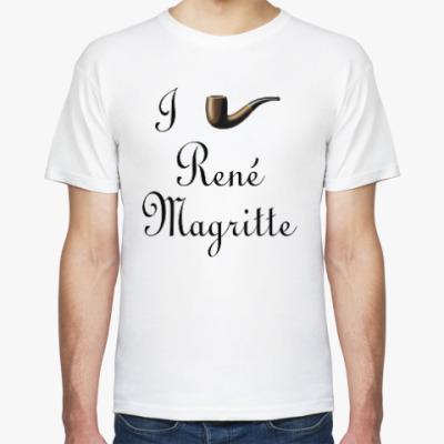 Футболка Я люблю Рене Магритта (трубка)