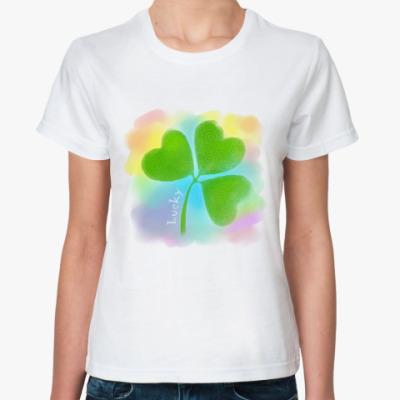 Классическая футболка Клевер 'Lucky'
