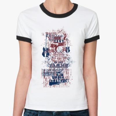 Женская футболка Ringer-T Rock fest