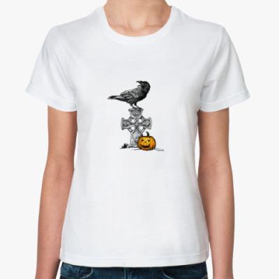 Классическая футболка Ворон и Тыква
