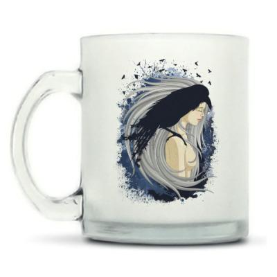 Кружка матовая Ворон