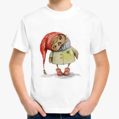 Детская футболка Совушка в шапочке