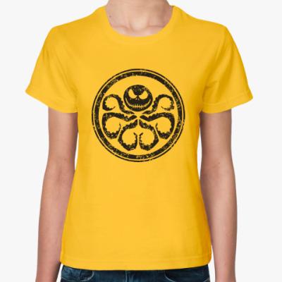 Женская футболка Осьминог Скеллингтон