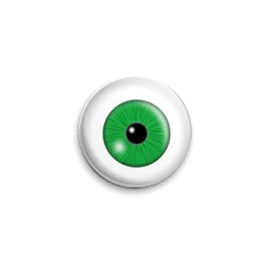 Значок 25мм Зеленый глаз