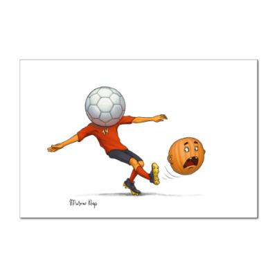 Наклейка (стикер) Тыква Футбол soccer
