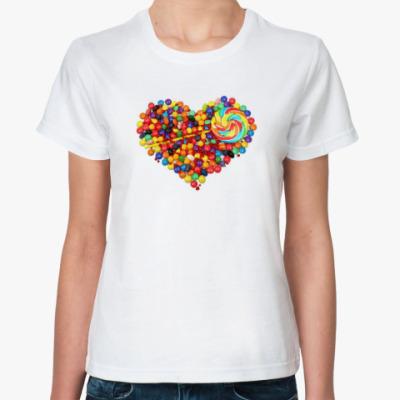 Классическая футболка Вкусненькое сердце