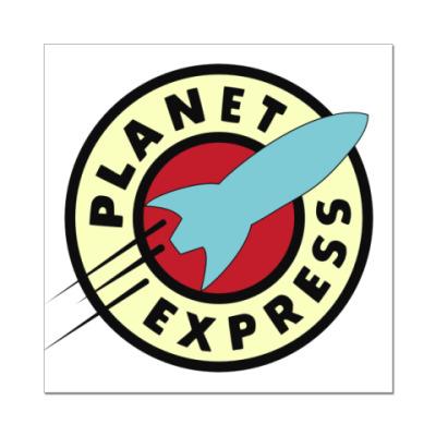 Наклейка (стикер) planet express