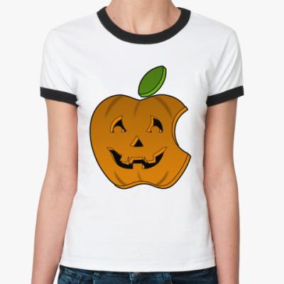 Женская футболка Ringer-T Helloween Apple RT Ж()